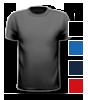 T-Shirt farbig mit rundem Halsausschnitt, vorne farbig bedruckt mit Ihrem Motiv